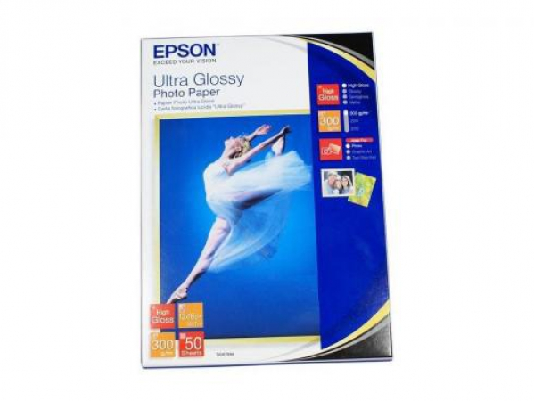 Бумага Epson 13*18 300 г/кв.м Ultra Glossy Photo Paper S041944 50л модель C13S041944