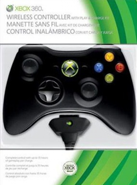 Microsoft Xbox 360 Wireless Controller + Play and Charge Kit Microsoft