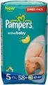 Pampers Active baby Junior 11-18 кг 58 шт 264811