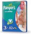 Pampers Active baby Midi 4-9 кг 82 шт 265085