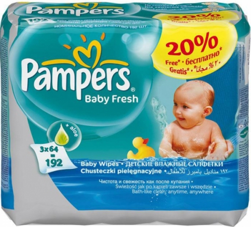 Pampers Baby Fresh 3х64