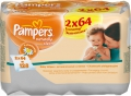 Pampers Naturally Clean Duo 2x64