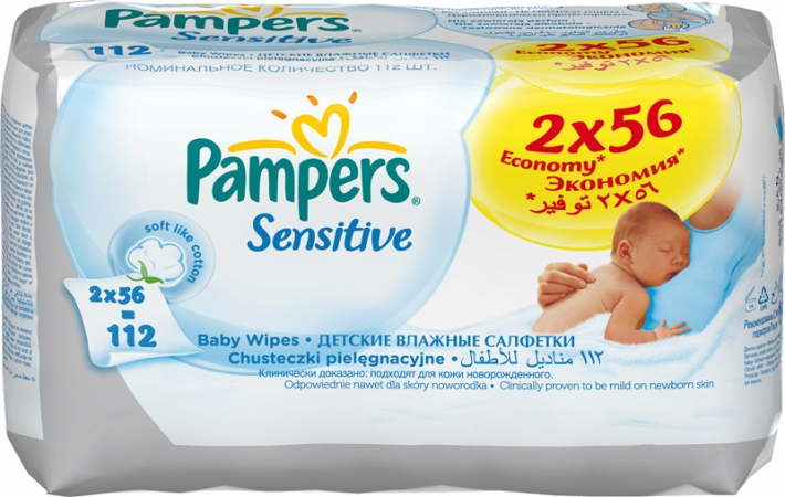 Pampers Sensitive Duo 2х56