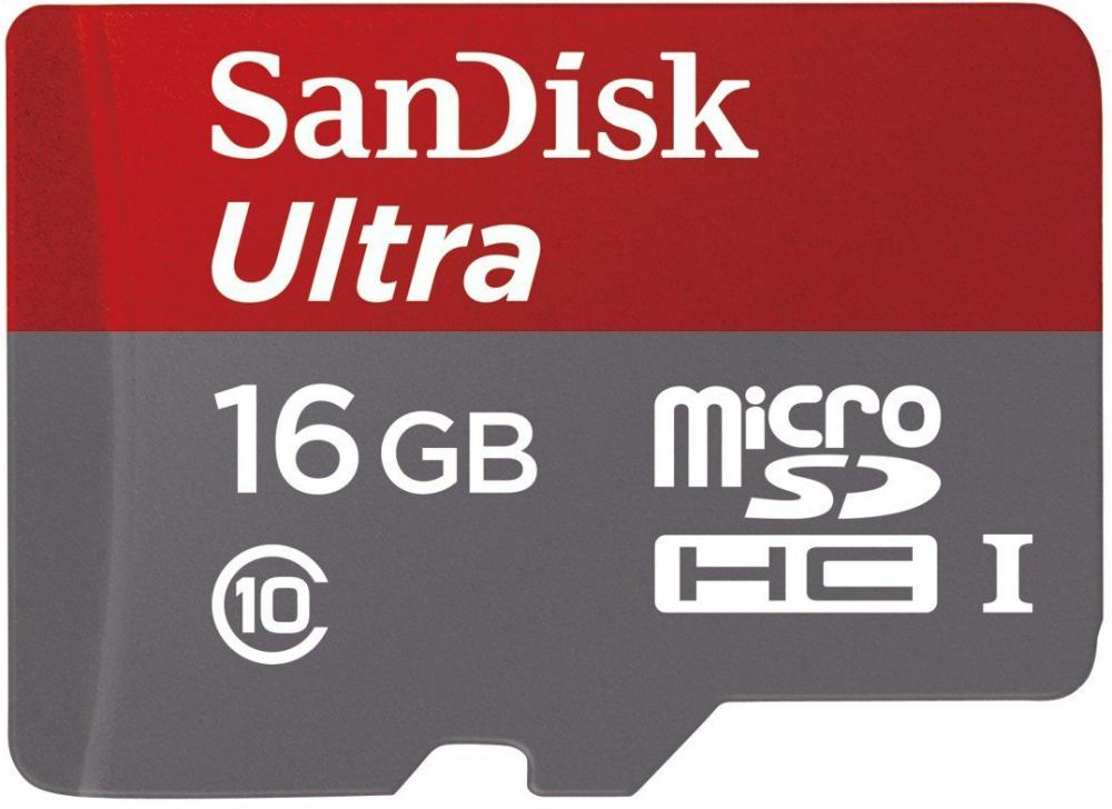 SanDisk Android microSD C10 16Gb + adapter