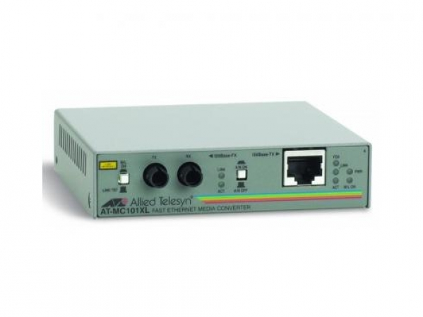 Allied Telesys Медиаконвертер Allied Telesis AT-MC101XL-20 100TX RJ-45 to 100FX ST Fast Ethernet