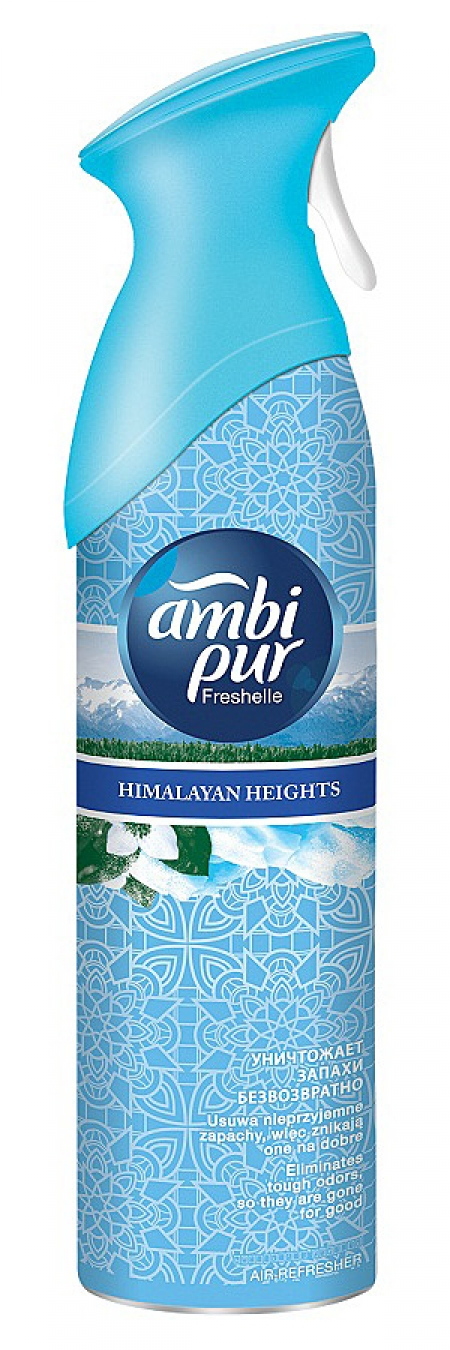 "Ambi Pur Освежитель воздуха Ambi Pur ""Himalayan Heights"" спрей, 300мл модель ОСВЕЖИТЕЛЬ ВОЗДУХА ""HIMALAYAN HEIGHTS"" СПРЕЙ, 300МЛ"