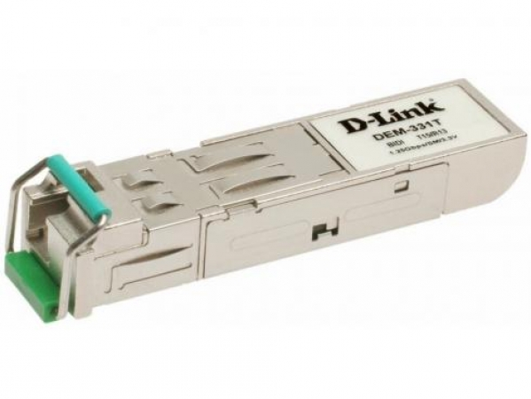 D-Link Трансивер сетевой D-Link 1-port mini-GBIC 1000Base-LX SMF WDM SFP Tranceiver up to 40km support 3.3V power LC connector unpacked from 10-pack DEM-331T (OEM) модель ТРАНСИВЕР СЕТЕВОЙ 1-PORT MINI-GBIC 1000BASE-LX SMF WDM SFP TRANCEIVER UP TO 40KM SUP