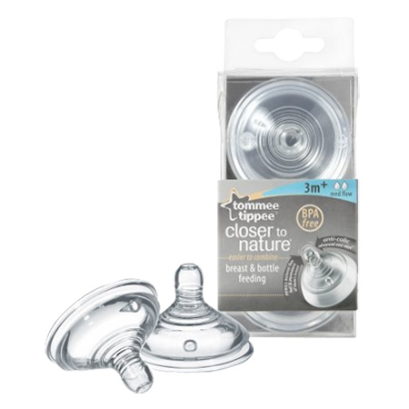 Tommee Tippee Набор сосок Tommee Tippee Closer to nature силикон с 3 мес модель НАБОР СОСОК CLOSER TO NATURE СИЛИКОН С 3 МЕС