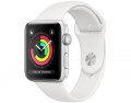 Умные часы APPLE Watch Series 3 38mm Silver Aluminium Case with White Sport Band (MTEY2RU/A)