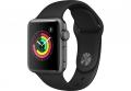 Умные часы APPLE Watch Series 3 38mm Space Grey Aluminium Case with Black Sport Band (MTF02RU/A)