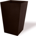 Кашпо CURVER модель LARGE RATTAN PLANTER-BRW590-STANDARD BROWN 53X53X73 СМ, 144,8 Л (228925)