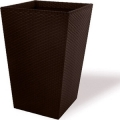 Кашпо CURVER модель MEDIUM RATTAN PLANTER-JRDBRW- BROWN 38,5X38,5X57 СМ 55,4 Л(228975)