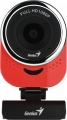 Веб-Камера Genius QCam 6000, red, Full-HD 1080p, universal clip, 360 degree swivel, USB, built-in microphone, rotation 360 degree, tilt 90 degree