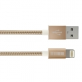 Кабель USB - Lightning Inter-Step IP5MFIMGL Gold