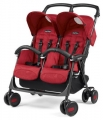 Коляска для двойни Peg-Perego Aria Shopper Twin (geo red)