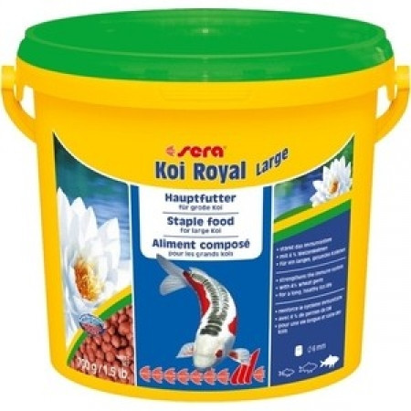 Корм SERA модель KOI ROYAL LARGE STAPLE FOOD FOR LARGE KOI ГРАНУЛЫ ДЛЯ КРУПНЫХ КОИ 3,8Л (700Г)