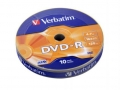 Verbatim Диск DVD-R 4.7Gb Verbatim 16x Shrink/10  (43729) модель ДИСК DVD-R 4.7GB 16X SHRINK/10 (43729)