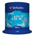 Verbatim Диски CD-R Verbatim 700Mb 52x CakeBox 100шт (43411) модель ДИСКИ CD-R 700MB 52X CAKEBOX 100ШТ (43411)